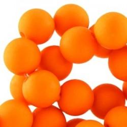 Perle en résine 6mm Orange mat