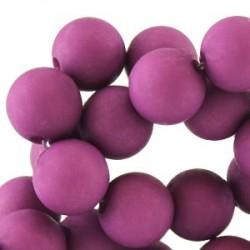 Perle en résine 6mm violet mat