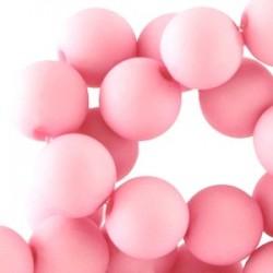 Perle en résine 6mm Rose mat