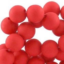 Perle en résine 6mm Rouge mat