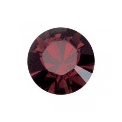 Pierre strass pointu Swarovski Burgundy (SS39 8 mm)