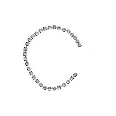 Chaîne de griffe en métal argenté (SS39) /15cm