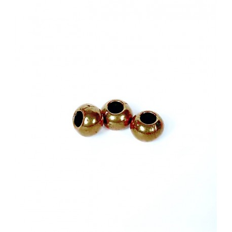 Perle Dorée ronde métal 7x5.2x3.7mm