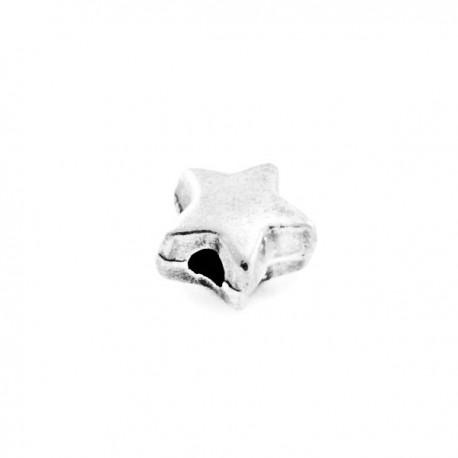 Perle métal Etoile métal 6mm