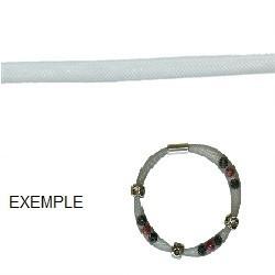 Tube élastique Crinoline 8mm Argenté/50cm