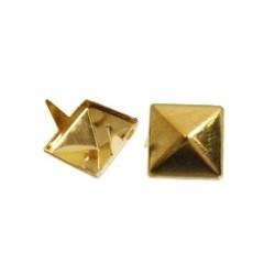 Clou Pyramide Métal Doré 9mm