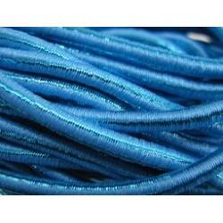Cordon élastique 3mm Aqua Métallisé /50cm
