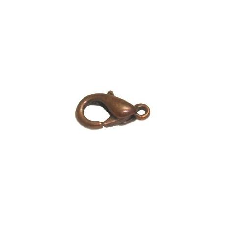 Fermoir Mousqueton cuivre 13mm