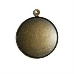 Pendentif Plateau Rond 16mm Bronze