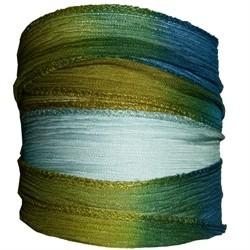 Ruban Soie Bleu-Vert-90cm