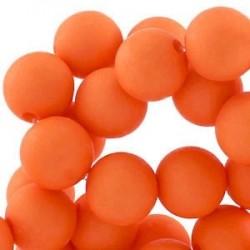 Perle en résine 10mm Orange Foncé T41