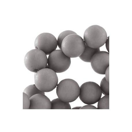 Perle en résine 10mm Gris Acier