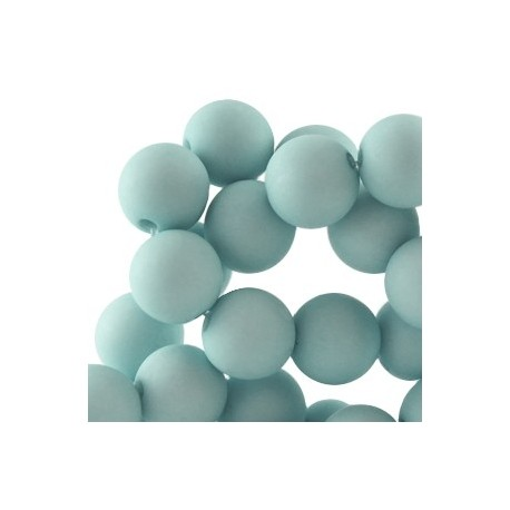 Perle en résine 8mm Bleu Menthe Clair