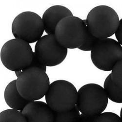 Perle en résine 8mm Noir V49