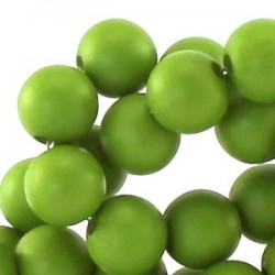 Perle en résine 8mm Vert Pomme