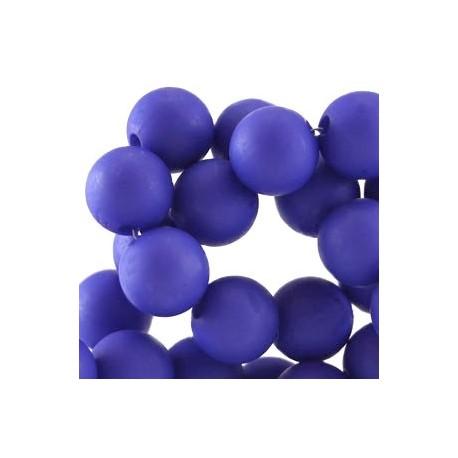 Perle en résine 10mm Bleu Violacé