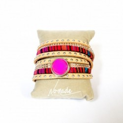 Bracelet croisé Naturel Multicolors by Nomade™