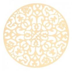 plaque Filigré Doré 40mm