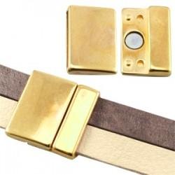 Fermoir Magnétique Doré 25 x 25 mm (Ø 21x2.5mm)