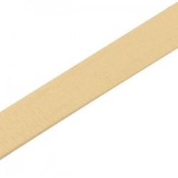 Cuir Plat Beige 10mm épaisseur 2.5mm /20cm