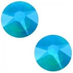Strass Swarovski Plat Caribbean Blue Opal de 7mm SS34