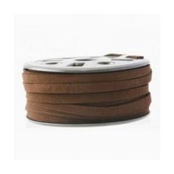 Lanière daim artificielle brun 6mm/ 50cm