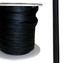 Cuir Napa Plat Noir 10mm/20cm