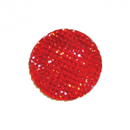 Cabochon Rond 16mm Strass rouge