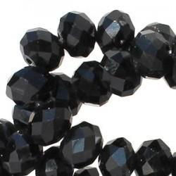 Perle Cristal Facetté Noir 8x6mm