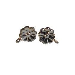 Paire de boucle d'oreilles pendante Argent 925 10mm