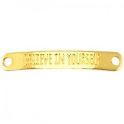 "Plaque rectangulaire doré ""Believe In Yourself\""43x7mm"