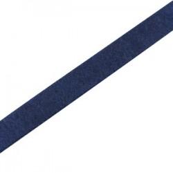 Cuir Plat Bleu Foncé 5mm/20cm