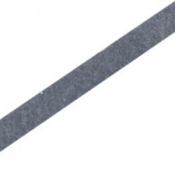 Cuir Plat Gris Foncé Platine 5mm/20cm