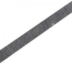 Cuir Plat Gris Anthracite Foncé 5mm/20cm