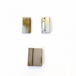 Fermoir Métal Aimant Rectangle 22*17mm