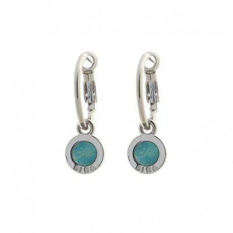 Boucles Créole avec Swarovski 'Pacific Opal'