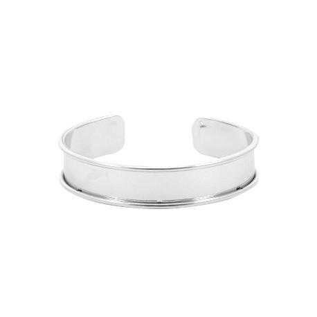 Bracelet Esclave Metal Argenté Pour Lanière Plate 10mm - Tanaïs 8dc68071a6dc
