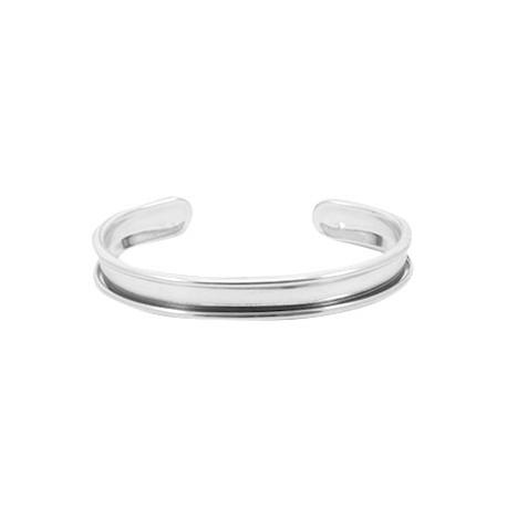 Bracelet Esclave Metal Argenté Pour Lanière Plate 5mm - Tanaïs d7140f2cee75