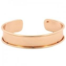 Bracelet Esclave Doré Rosé Pour Lanière Plate 10mm