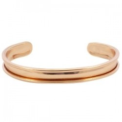 Bracelet Esclave Metal Rosegold Pour Lanière Plate 5mm