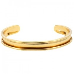 Bracelet Esclave Metal Doré Pour Lanière Plate 5mm