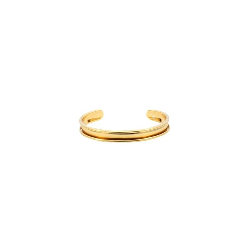 Bracelet Esclave Metal Doré Pour Lanière Plate 5mm - Tanaïs a4d0979db9ab