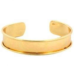 Bracelet Esclave Doré Pour Lanière Plate 10mm