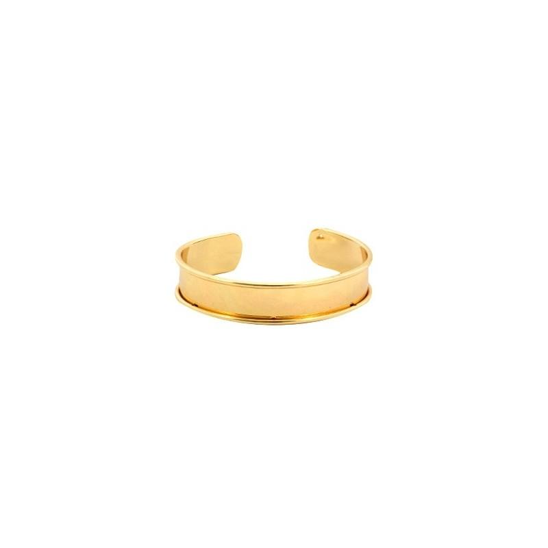 Bracelet Esclave Doré Pour Lanière Plate 10mm - Tanaïs 56be9548b076