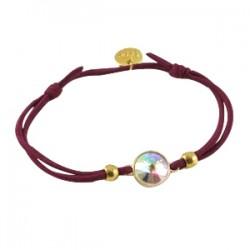 Bracelets Sisa Bordeau avec Strass Crystal