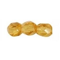 Perle de Bohême Topaz 8mm