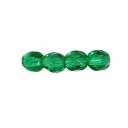 Perles Bohème Vert Emerald 4mm 9gr(+/-103 perles)