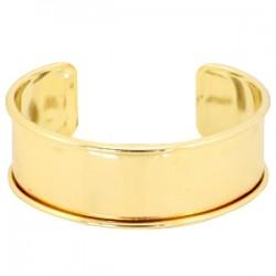 Bracelet Esclave Metal Doré Pour Lanière Plate 20mm