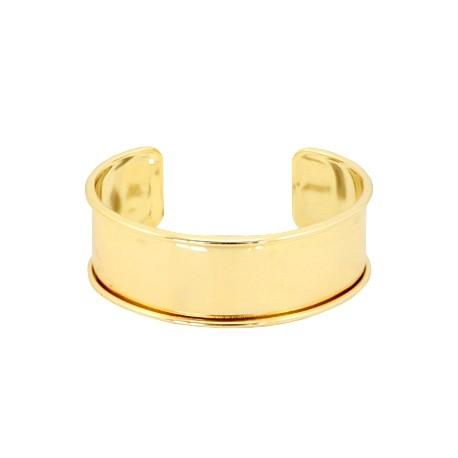 Bracelet Esclave Metal Doré Pour Lanière Plate 20mm - Tanaïs a6be8f14bb31