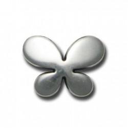 Papillon argenté 28x21mm